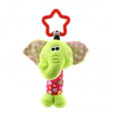 Мягкая подвеска - погремушка Слоненок Happy Monkey