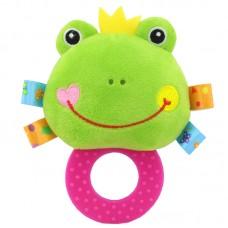 Мягкая погремушка - прорезыватель Лягушка Happy Monkey