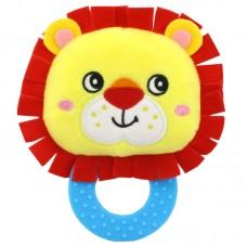 Мягкая погремушка - прорезыватель Лев Happy Monkey