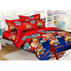Paw patrol красный полуторный комплект постельного белья