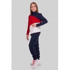 Теплый яркий спортивный костюм для девочки 34-42р