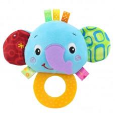 Мягкая погремушка - прорезыватель Слоненок Happy Monkey